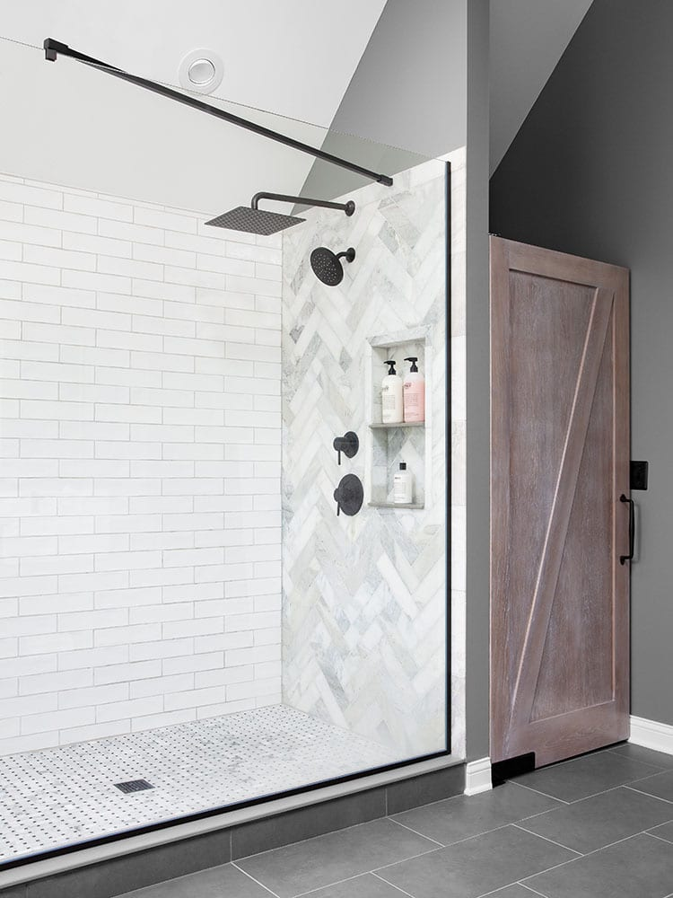 Lakebrook bathroom outside view of shower